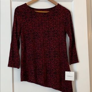 NWT Croft & Barrow 3/4 sleeve top Petite S